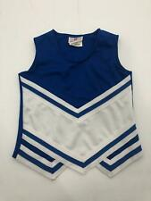 Teamwork Blue White Striped Cheer Top Cheerleader Costume 100% Polyester Youth M