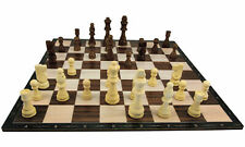 Holzschach Großes 40 x 40 cm Schachbrett mit Figuren aus Holz Spiel