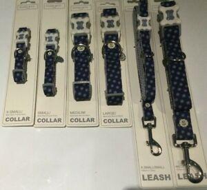 Sydney & Co  Navy Blue Dog Collar & Leash Lead Various Sizes