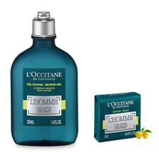 L'Occitane En Provence L'Homme Cologne Cedrat Shower Gel 8.4 oz Soap Bar NEW