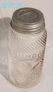 Scarce LARGE 2 Lb JUMBO Peanut Butter jar w/ ELEPHANT FRANK Tea Spice Co CINN O