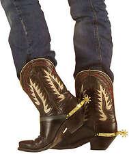 Bottes de cowboy Sporen doré NEUF - Accessoire carnaval