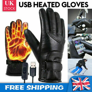 Winter Electric Heated Gloves Warmer USB Rechargeable Outdoor Motorcycle Mittens