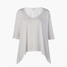 Stylemint Blogger Charlton White Red Polka Dot Tee Top Size 2 Small