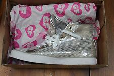 Gotta Flurt Women's Disco II Hi Silver Sequins Fashion Sneakers Shoes 9