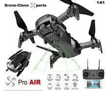 Drone X Pro AIR 1080P HD Dual Camera WIFI FPV 20min Flight Follow Me 2 BATTERIES
