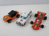 Matchbox Binz Ambulance Speed Kings Sand Cat Formula 1 Diecast Loose Lot of 3