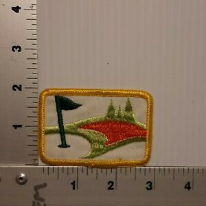 1980's GOLF GREEN GOLFING VINTAGE EMBROIDERED PATCH
