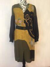 Dries Van Noten 100% Silk Belted Dress Size 40  US 4 NWOT
