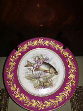 """Two 91/2"""" French Cabinet Plates marked Au Vase Etrusque Pre-Owned"""