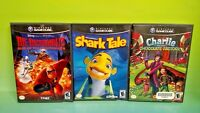 Disney Shark Tale, Incredibles, Charlie - Nintendo GameCube NGC Tested Game Lot