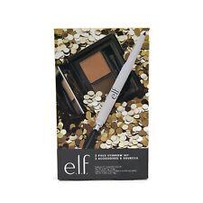 ELF 2 Piece Eyebrow Set Instant Lift Brow Pencil + Kit Medium Neutral Brown Gift
