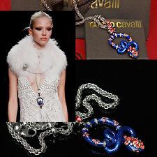 $950 ROBERTO CAVALLI Ladies JEWELED COBRA NECKLACE w/ Box & Bag