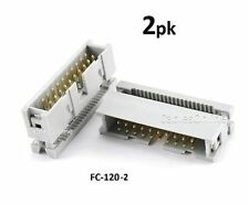 2-PACK 20-Pin Male IDC Flat Ribbon Cable Box Header Connectors, FC-120-2