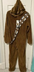 Disney STAR WARS Chewbacca CHEWY Hooded ONE PIECE Pajamas size Adult Large