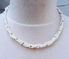 perlas de Agua Dulce COLLAR HEMATITES joyas 5 Filas 3528 OFERTA