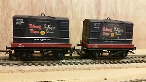 HORNBY R561 Flat Wagon with Container 'Tri-ang Toys Pedigree Prams' X 2