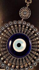 Turkish Nazar Glass Evil Eye  Wall Hanging Charm & Home Decor 23cm