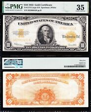 AWESOME Crisp Choice VF++ 1922 $10 *GOLD CERTIFICATE*! PMG 35! FREE SHIP! 68450