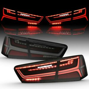 Smoke Sequential Signal LED Tail Lights For Audi 2012-2015 A6 S6