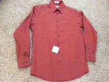 NWT CONCEPTS by CLAIBORNE Dress Shirt SOLID CORAL 15-1/2; 34/35 Retail $45 NEW