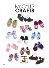 NIP M 6342 Infant Baby Shoes Slippers Booties Boots pattern UNCUT S M L