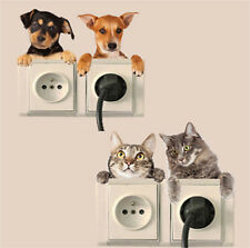 Funny Cat Dog Light Sticker Vinyl Mural Switchs Surround Printed Home Decors