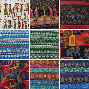 "Ethnic Bohemia Maya Women Cotton Linen Fabric Patchwork  57"" Wide BY YARD"