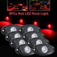 8X Red CREE LED Rock Light Off-Road Marine Underbody Foot Wheel RV Lamp Truck US