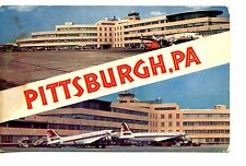 Greater Pittsburgh Pennsylvania Airport Terminal-Airplanes-Vintage Postcard