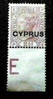 "Cyprus: 1880 English Postage Stamps Overprinted ""CYPRUS"" 2½P Collectible Stamp."