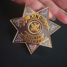 US The Walking Dead King Country Sheriff Metal Badge Pin Prop Insignia Brooch
