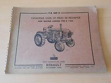 Catalogue pièces de rechange tracteur Renault R 7053 1959