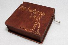 "Pink Panther #5 Music Box - Engraved Wooden Music Box - ""Pink Panther Theme"""