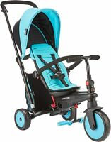 SmarTrike STR 3 Plus Kids 6 in 1 Compact Folding Stroller Trike Blue NEW