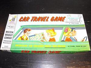 Vintage 1958 Car Travel Game - Milton Bradley #4825
