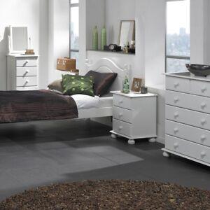 Copenhagen Pine Bedroom Furniture 3 Finishes White, Cream/Pine or Pine