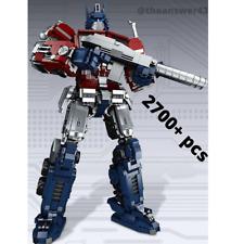 Transformers Robot Optimus Prime Building Bricks Blocks Movie Gift Toy Education