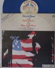 "PATRICK JUVET ~ I Love America ~ 12"" Single PS BLUE VINYL"