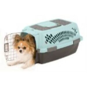 Pet Taxi, Pet Porter Plastic Kennel, Up to 10 Pounds, Blue Air/Coffee Grounds.