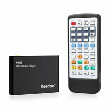 Mini Multi Media Player Upscaling Full HD 1080P HDMI/AV Out SDHC MKV AVI RMVB RM