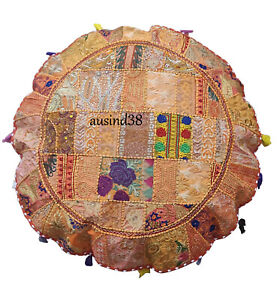New Handmade Ottoman floor coussion pouf vintage patchwork pouf Indian poufs
