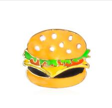 Hamburger Pin ~ Lettuce Tomato Cheese Burger Brooch Badge Food Lapel Pin