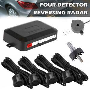 4x Car Parking Sensors Auto Rear Reverse Audio Buzzer Alarm Radar Detector Kit