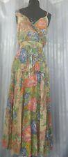 ASOS Tall Pleated vintage Floral Ruffle Midi Dress Size 14
