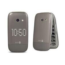 Doro 632 Nuevo Desbloqueado Teléfono Móvil Gris + base De Carga + Todos Los Accesorios