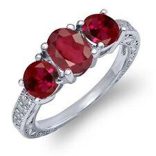 Ruby White Gold 14k Fine Rings