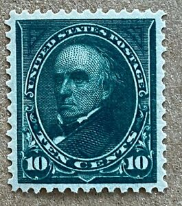 US Stamps, Scott #273 1895 10c Webster 2020 PSAG Cert GC XF 90 M/NH. CHOICE!