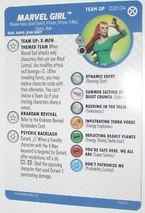 TEAM UP MARVEL GIRL 020.04 X-Men THEMED team x-Men House of x HeroClix