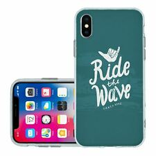 For iPhone X Xs Silicone Case Cover Santa Cruz Surfing (S474)